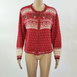 Woolrich Womans Christmas Sweater size Medium Red
